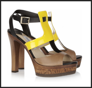 Jimmy Choo Tri-tone Sandal (Photo via Netaporter.com)