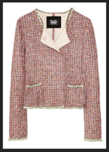 D&G Chain Trimmed Boucle Jacket (Photo via Net-a-Porter.com)